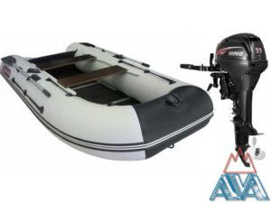 Лодка Альбатрос-340 + HIDEA-9.9