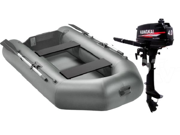 Комплект - Надувная лодка Арчер А-280 + Лодочный мотор HANGKAI 4.0HP купить недорого. Цена: 44500 руб.