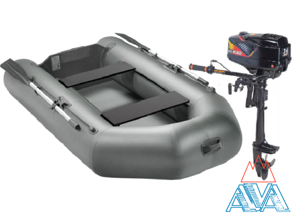 Комплект - Надувная лодка Арчер А-280 + Лодочный мотор Hagkai 3.6 купить недорого. Цена: 28000 руб.