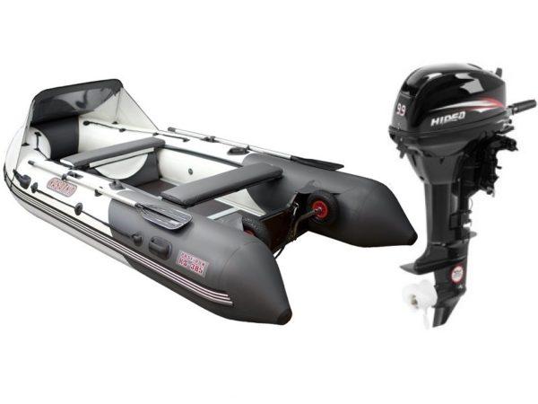 Надувная лодка Касатка 385S + мотор Hidea HD9.9 FHS
