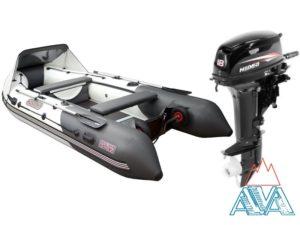 Надувная лодка Касатка 385S + мотор HIDEA HD18 FHS