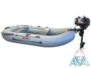 Надувная лодка Мистраль 280Т + Лодочный мотор Hangkai 3.6