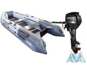 Комплект - Надувная лодка Касатка KS 335 + Лодочный мотор Marlin MP 9.8 AMHS
