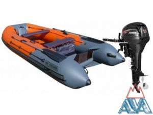 Надувная лодка ПВХ Навигатор 330 + лодочный мотор Hidea HD9.9 FHS купить недорого! СКИДКА + Подарки!
