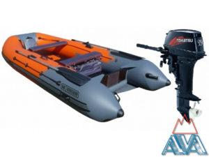 Комплект - Лодка Навигатор 330 НДНД + мотор TOHATSU M9.9 D2 S купить недорого. Скидки + Подарки!