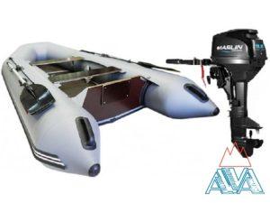 Комплект - Надувная лодка Арчер А-320 + Лодочный мотор Marlin MP9.8 AMHS купить недорого. Цена: 82000 руб.