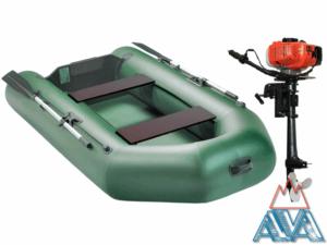 Комплект - Надувная лодка Арчер А-240 + Лодочный мотор GM 3.5HP купить недорого. СКИДКА!